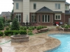 Stamped Concrete & Fire Ring